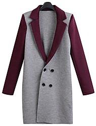 doble botonadura abrigo largo de Jansa ™ mujeres