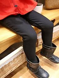 Mädchen Hose einfarbig Baumwollmischung Winter Schwarz / Rot