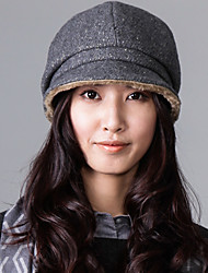 Lewei Women's High Level Wool Tweed Casual Hat(45% Wool)