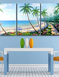 Personalized E-HOME® Canvas Print The Seaside Scenery 35x50cm 40x60cm 50x70cm Framed Canvas Painting Set of 3