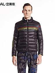 épais manteau court occasionnel de manteau d'hiver patchwork hiver Veste de survêtement hommes eral®men bas avec col montant