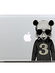 SKINAT Removable number 3 cute cool panda tablet and laptop computer sticker for macbook Pro 13,Air 13,170*270mm