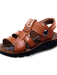Boy's Sandals Spring / Summer Slide / Comfort / Open Toe Leather Flat Heel Magic Tape Black / Brown