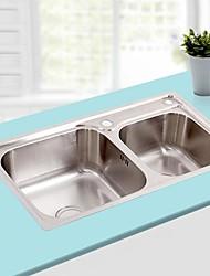 polegadas l30.7 dupla tigela pia de cozinha em aço inoxidável 304