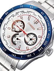 relojes de cuarzo banda de acero de los hombres de negocios noctilucentes (colores surtidos)