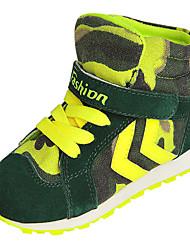 Zapatillas de Atletismo ( Negro/Verde/Rojo ) - Dedo redondo - Ante Sintético
