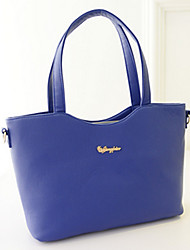 Women's Solid Color All Match One Shoulder Bag&Tote