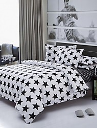 Factory Direct Starry Bedlinen White And Black Printed Comforters Plain Cotton Bedding Set Twin Queen King Wholesale