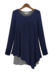 Mufans Women's False 2PCS Dress 1416#