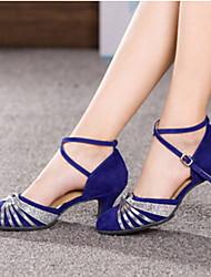 Satén y piel sintética moderna zapatos de baile de las mujeres más colores