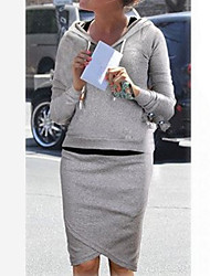 dos piezas casuales color sólido superior y pantalones