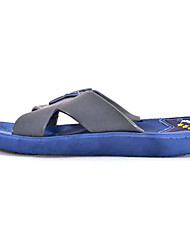 Men's Shoes Casual PVC Slippers Blue/Brown