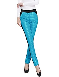 Women's Blue/Pink/Black/Purple Straight Pants , Casual