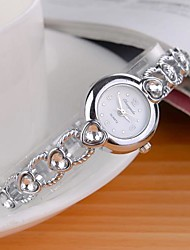 Women's Gold Alloy Heart Shaped Band Quartz Analog Bracelet Watch(Assorted Colors) Cool Watches Unique Watches