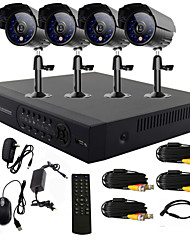 TWVISION® 4 Channel One-Touch Online CCTV DVR System(4 Outdoor Warterproof Camera)