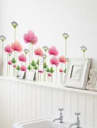 Wall Stickers Wall Decals, Beautiful Lotus PVC Wall Stickers