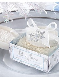 presentes de feriado forma floco de neve natal sabão (cor aleatória)