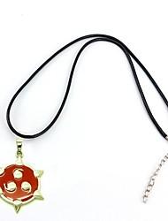sasuke seis caminos aleación sharingan chakra colgante de collar de cosplay naruto