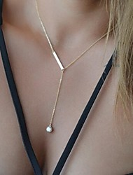 Pendant Necklaces Crystal Crystal Alloy Simple Style Jewelry Party Daily Casual