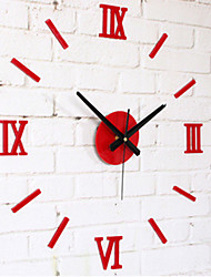 "Moderno/Contemporâneo Outros Relógio de parede,Redonda Acrilico 10 x 10 x 8(3.9"" x 3.9"" x 3"") Interior Relógio"