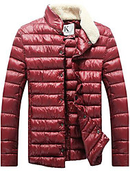 Men's Pure Color Cotton Coat