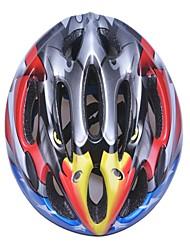 moda cómoda seguridad + eps 10 respiraderos de los niños integralmente moldeadas por el ciclismo casco - gris claro + amarillo + rojo