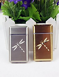 1PCS High Quality Dragonfly Style Windproof Metal Butane Jet Gas Lighter Random Color