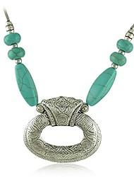 старинное серебро металл, резьба цветок короткое бирюзовое ожерелье