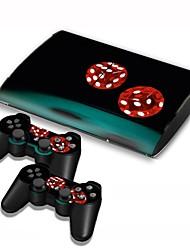 couverture autocollant de protection autocollant de contrôleur de la peau PS3 Slim 4000 de la console