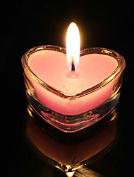 Heart-shaped Rose Scented Candle