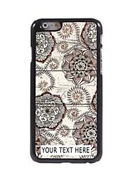 caso de telefone personalizado - caso retro flower design de metal para iphone 6 mais