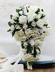 Wedding Flowers Free-form / Cascade Roses Bouquets Wedding / Party/ Evening Foam