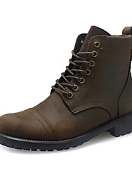 Men's Shoes Casual Leather Boots Brown