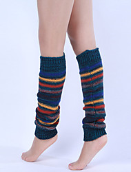Women's Stripe Knit Boot Socks Leg Warmers