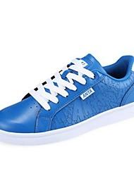 Men's Skateboarding Shoes Leatherette Blue/White