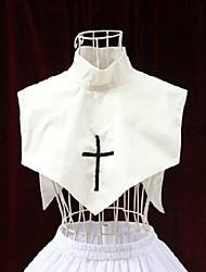 orar a deus colarinho branco freira acessório gothic lolita