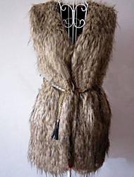 Women's Elegant Faux Fur Warm Sleeveless Coat