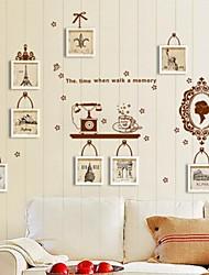 stickers muraux stickers muraux, rétro souvenirs dans le miroir pvc stickers muraux