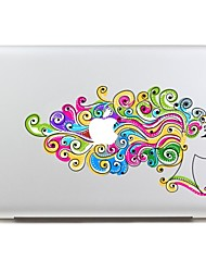 colorido ouvir tablet computador portátil etiqueta autocolante skinat removíveis diy Avery das mulheres para macbook air 11205 * 270 milímetros