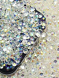2000PCS Colorful Flatback Resin Gems 3mm Handmade DIY Craft Material/Clothing Accessories