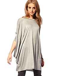 moda ao longo t-shirt tamanho