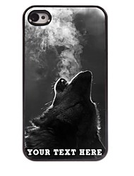 Personalized Phone Case - The Wolf Blowing Smoke Design Metal Case for iPhone 4/4S
