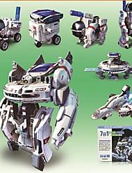 7-em-1 kit DIY legal frota espacial recarregável solar - branco