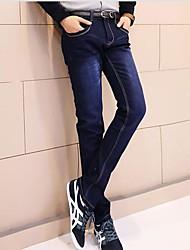 força elástica magro jeans homens