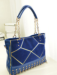 Women PU Formal / Casual / Shopping / Office & Career Shoulder Bag / Tote Blue / Red / Black
