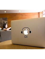 SKINAT Removable DIY funny cute DJ music tablet and laptop sticker for you tablet and macbook air 135*205mm