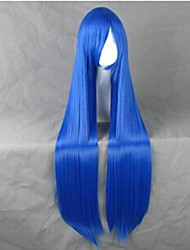 Cosplay Wigs Cosplay Cosplay Blue Long Anime Cosplay Wigs 100 CM Heat Resistant Fiber Female