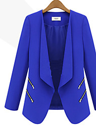 AUTUMN  Women's Square Coats & Jackets , Polyester Casual/Work Long Sleeve