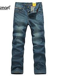 Herren Jeans-Einfarbig Freizeit / Büro Polyester Blau