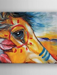 Oil Painting Modern Abstract Horse Hand Painted Canvas with Stretched Framed